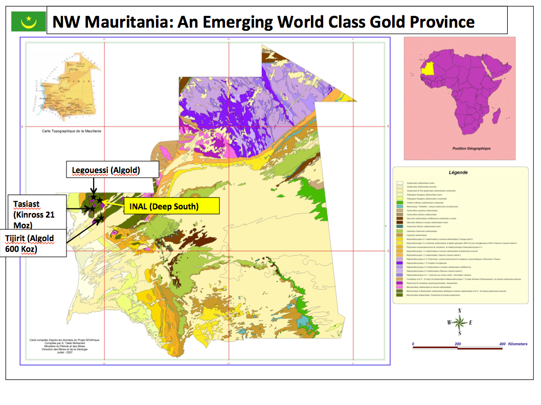 NW Mauritania: An Emerging World Class Gold Province